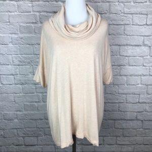 Lou & Grey Cowl Neck Short Sleeve Tunic Medium